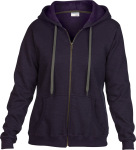 Gildan – Heavy Blend™ Ladies Vintage Full Zip Hooded Sweatshirt zum besticken und bedrucken