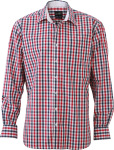 James & Nicholson – Men's Checked Shirt for embroidery and printing