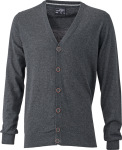 James & Nicholson – Men's Cardigan for embroidery and printing