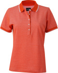 James & Nicholson – Ladies' Piqué Polo bicolor for embroidery and printing