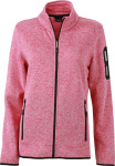 James & Nicholson – Ladies' Knitted Fleece Jacket for embroidery and printing