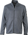 James & Nicholson – Men's Knitted Fleece Jacket for embroidery and printing