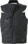 James & Nicholson – Workwear Winter Softshell Gilet zum besticken