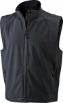 James & Nicholson – Men's 3-Layer Softshell Vest hímzéshez