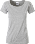 James & Nicholson – Ladies' Basic T-Shirt Organic for embroidery and printing