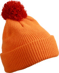 Myrtle Beach – Knitted hat with brim and pompon for embroidery