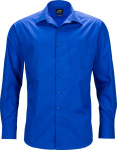 James & Nicholson – Men's Business Popline Shirt longsleeve for embroidery and printing