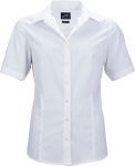 James & Nicholson – Ladies' Business Popline Shirt shortsleeve for embroidery and printing