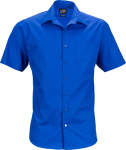 James & Nicholson – Men's Business Popline Shirt shortsleeve for embroidery and printing