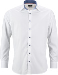 "James & Nicholson – Popline Shirt ""Plain"" for embroidery and printing"