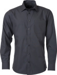 James & Nicholson – Popline Shirt longsleeve for embroidery and printing