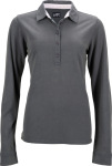 James & Nicholson – Ladies' Polo longsleeve for embroidery and printing