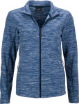 James & Nicholson – Ladies' Melange Fleece Jacket hímzéshez