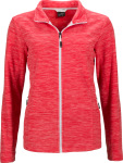 James & Nicholson – Ladies' Melange Fleece Jacket for embroidery