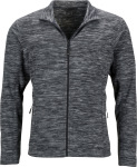 James & Nicholson – Men's Melange Fleece Jacket hímzéshez