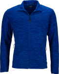 James & Nicholson – Men's Melange Fleece Jacket for embroidery