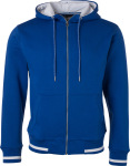 James & Nicholson – Men's Club Sweat Jacket for embroidery and printing