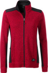 James & Nicholson – Ladies' knitted Workwear Fleece Jacket for embroidery