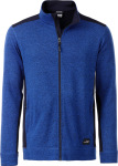 James & Nicholson – Men's knitted Workwear Fleece Jacket for embroidery