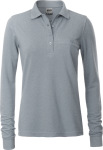 James & Nicholson – Ladies' Workwear Polo Pocket longsleeve for embroidery and printing