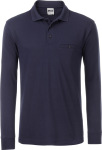 James & Nicholson – Men's Workwear Polo Pocket Longsleeve for embroidery and printing