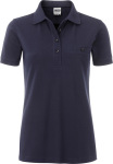 James & Nicholson – Ladies' Workwear Polo Pocket for embroidery and printing