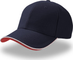 Atlantis – Heavy Brushed 6 Panel Cotton-Twill Sandwich Cap Pilot Piping Sandwich for embroidery