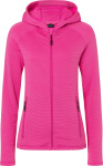 James & Nicholson – Damen Kapuzen Stretch Fleecejacke zum besticken