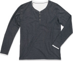 Stedman – Men's Henley T-Shirt longsleeve for embroidery and printing
