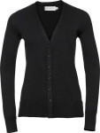 Russell – Damen V-Neck Strickjacke zum besticken