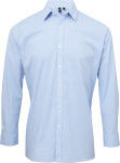 "Premier – Shirt ""Gingham"" longsleeve for embroidery and printing"