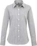 "Premier – Shirt ""Gingham"" langarm for embroidery and printing"