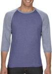 Anvil – Tri-Blend 3/4 Sleeve Raglan Tee for embroidery and printing