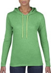 Anvil – Women`s Lightweight Long Sleeve Hooded Tee for embroidery and printing