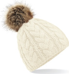 Beechfield – Fur Pop Pom Cable Beanie zum besticken