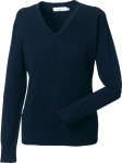 Russell – Ladies´ V-Neck Knitted Pullover zum besticken