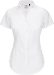 B&C – Poplin Shirt Black Tie Short Sleeve / Women for embroidery and printing