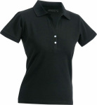 James & Nicholson – Ladies' Elastic Polo Short-Sleeved for embroidery and printing