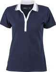 James & Nicholson – Ladies' Elastic Polo Short-Sleeved zum besticken und bedrucken