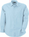 James & Nicholson – Men's Shirt Classic Fit Long for embroidery and printing