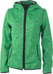 James & Nicholson – Ladies´ Knitted Fleece Hoody zum besticken