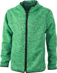 James & Nicholson – Men´s Knitted Fleece Hoody zum besticken