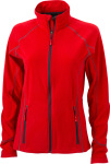 James & Nicholson – Ladies´ Structure Fleece Jacket zum besticken
