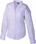James & Nicholson – Ladies' Business Blouse Long-Sleeved zum besticken und bedrucken