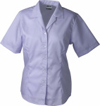 James & Nicholson – Ladies' Business Blouse Short-Sleeved zum besticken und bedrucken
