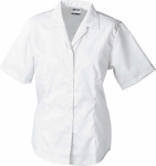 James & Nicholson – Ladies' Business Blouse Short-Sleeved for embroidery and printing