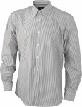 James & Nicholson – Men's Long-Sleeved Shirt for embroidery and printing