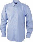 James & Nicholson – Men's Long-Sleeved Shirt zum besticken und bedrucken