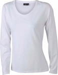 James & Nicholson – Ladies' Shirt Long-Sleeved Medium for embroidery and printing