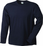James & Nicholson – Men's Long-Sleeved Medium zum besticken und bedrucken